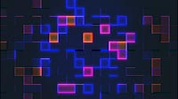 Abstract Grid Visual With Colored Cubes 4