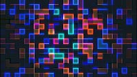 Abstract Grid Visual With Colored Cubes 6