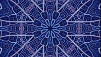 Arch Fractal Kaleida Blue