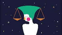 Astrology Libra Animated Illustration