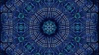 Block Fractal Kaleida Blue