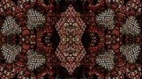 Block Fractal Kaleida Red