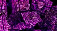 Block Fractal Purple