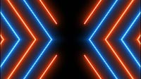 Blue And Orange Glowing Bars Cross 1
