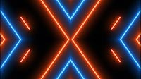Blue And Orange Glowing Bars Cross 2