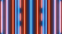 Blue And Orange Glowing Bars Rain 3