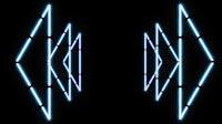 Bluest Light Triangle Warp 2
