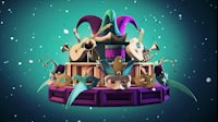 Carnival Carousel Purple Green Side