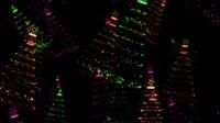 Christmas Trees Made Of Lights Multi Colored Rain