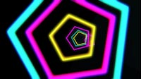 Colored Pentagons VJ Tunnel