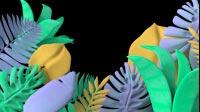 Colorful Jungle Plants Waving