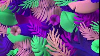 Colorful Jungle Plants Waving Full 1