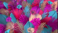Colorful Jungle Plants Waving Full 2