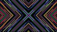 Colorful Lines Video Loop Cross 1
