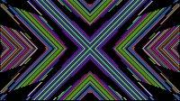 Colorful Lines Video Loop Cross 2