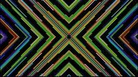 Colorful Lines Video Loop Cross 4