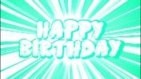Comic Style Happy Birthday