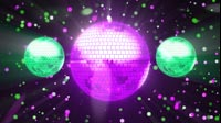 Disco Ball Purple Green 2