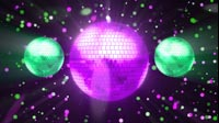 Disco Ball Purple Green 3