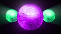 Disco Ball Purple Green Bouncing