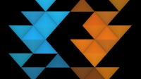 EDM Triangles Split Blue Orange