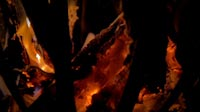 Fire Pit Slow Motion Close Up