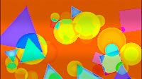 Funky Geometric Background Orange