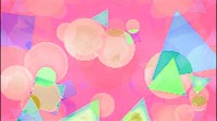Funky Geometric Background Pink And Green