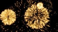 Golden Fireworks Background For NYE 1