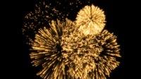 Golden Fireworks Background For NYE 2