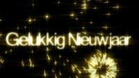Golden NYE Gelukkig Nieuwjaar