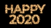 Happy 2020 In Sparkles Bold
