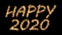 Happy 2020 In Sparkles Written