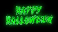 Happy Halloween Green