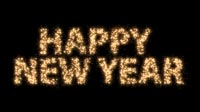 Happy New Year In Sparkles 1