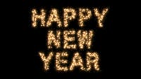 Happy New Year In Sparkles 2