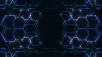 Hexworld Blue And Red Hexagon Pattern Moving