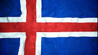 Icelandic Flag Video Loop