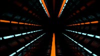 Into The Space Tunnel Blue Orange