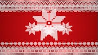 Knitted Christmas Star Zoom