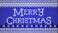 Knitted Merry Christmas 1 Blue
