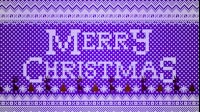 Knitted Merry Christmas 1 Purple