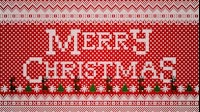 Knitted Merry Christmas 1 Red