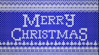 Knitted Merry Christmas 2 Blue