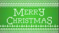 Knitted Merry Christmas 2 Green