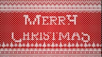 Knitted Merry Christmas 2 Red