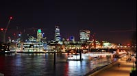 London Night Financial District