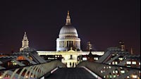 London Night Millennium Bridge St Pauls