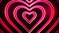 Neon Love Hearts Tunnel Front
