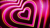 Neon Love Hearts Tunnel Rotated
